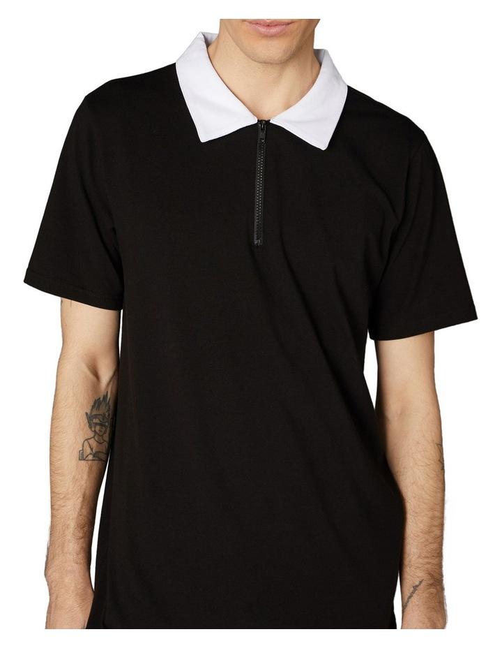 Contrast Collar Short Sleeve Tee Black image 4