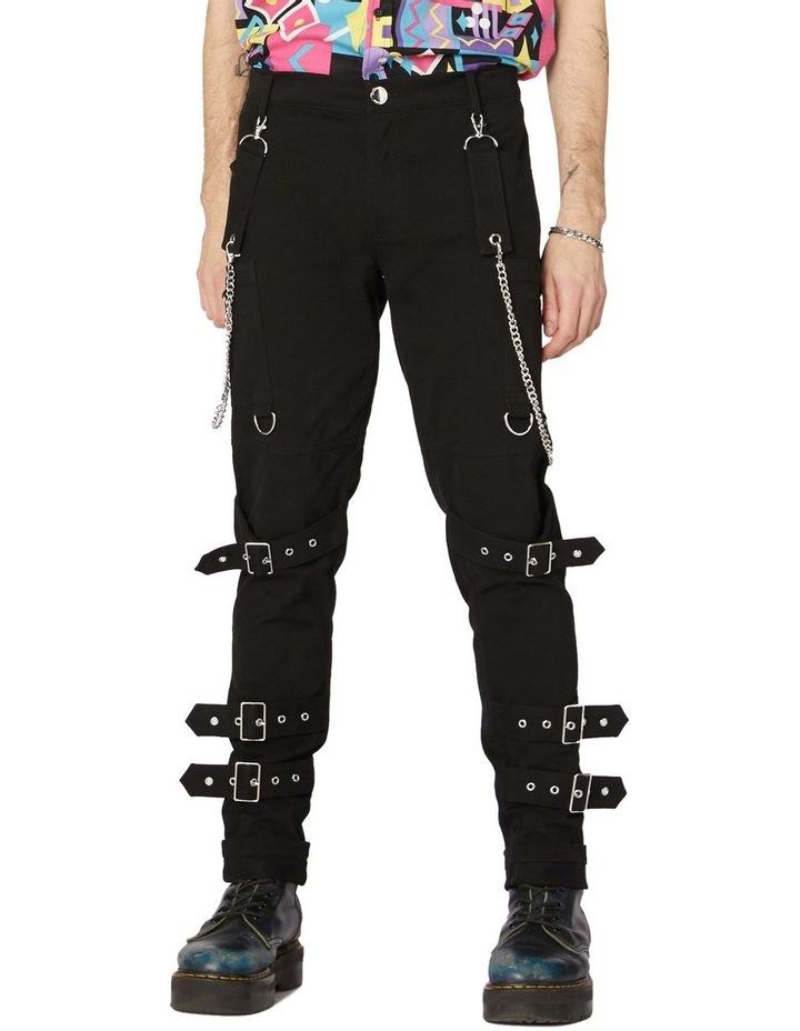 Punk Morpho Unisex Skinny Pants Black image 1