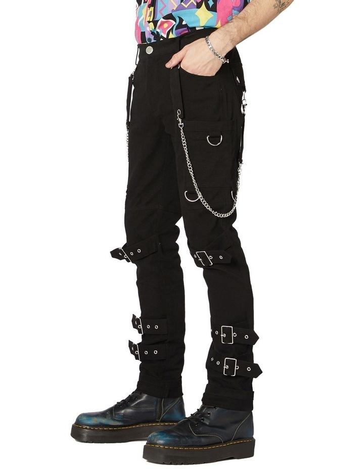 Punk Morpho Unisex Skinny Pants Black image 2
