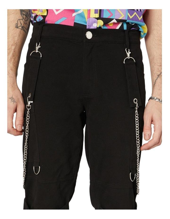 Punk Morpho Unisex Skinny Pants Black image 4