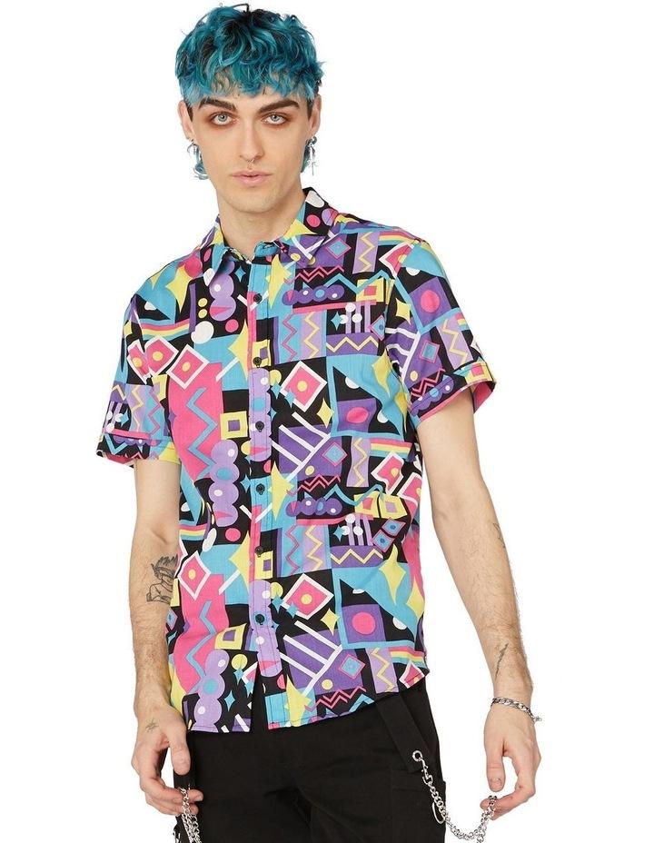 80's Geo Short Sleeve Shirt Black image 1
