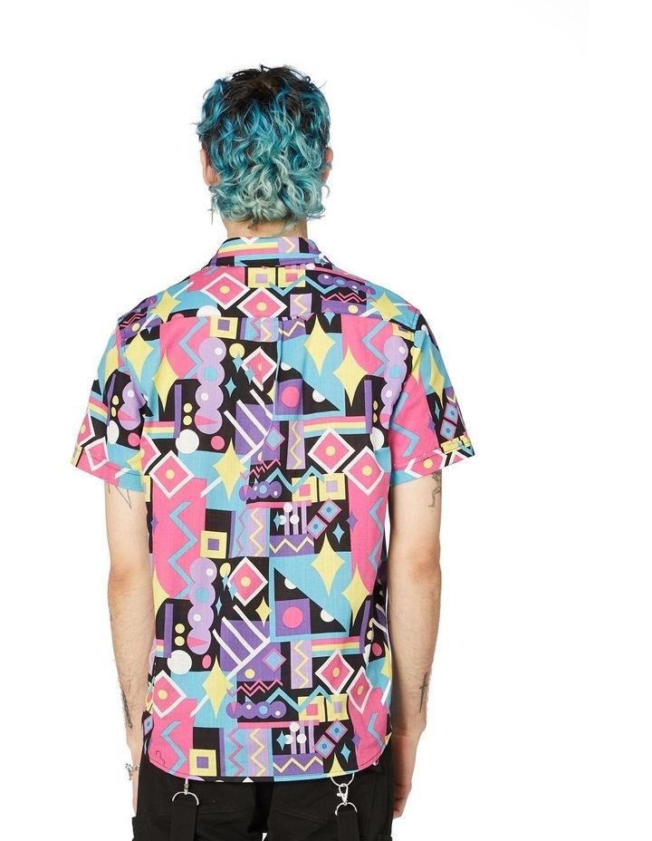 80's Geo Short Sleeve Shirt Black image 3