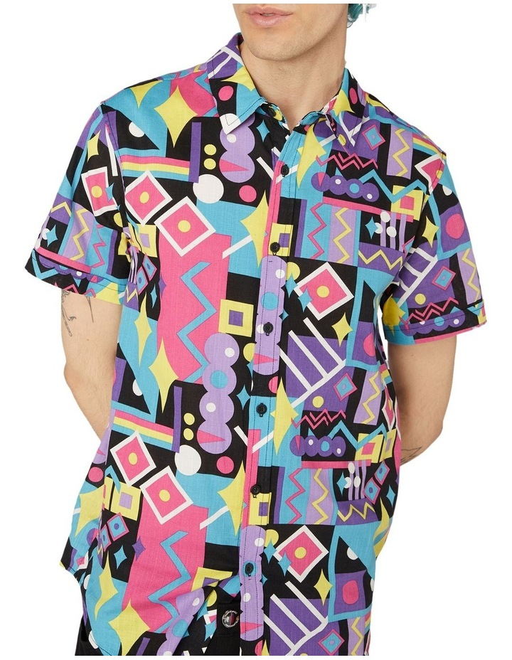 80's Geo Short Sleeve Shirt Black image 4