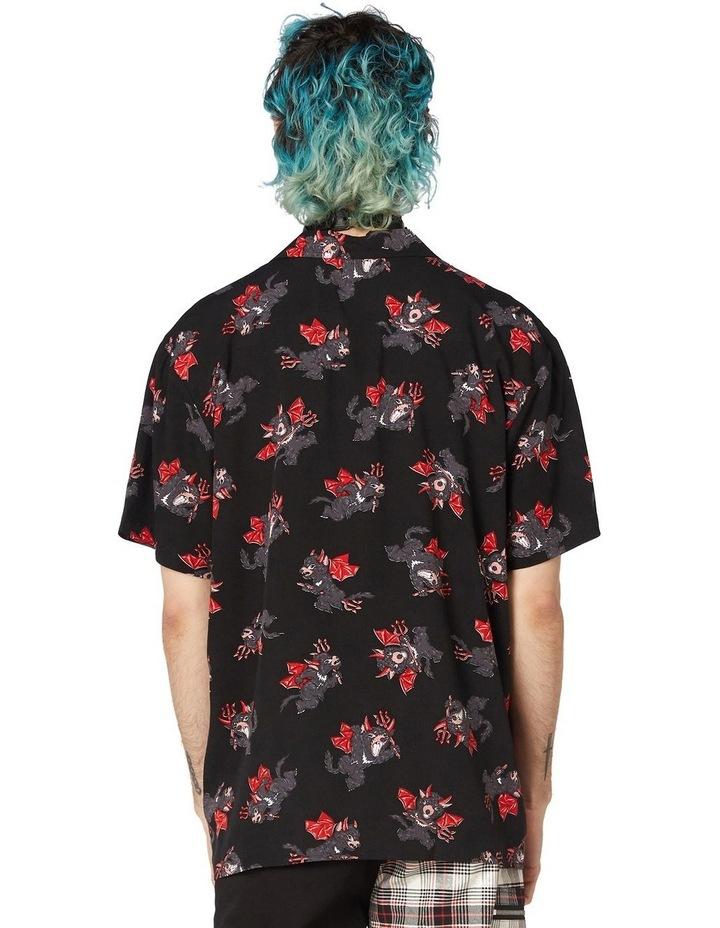 Devil Viscose Short Sleeve Shirt Black image 3