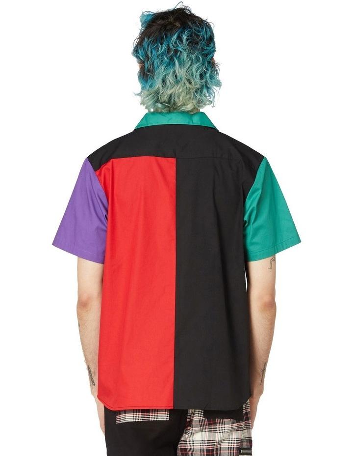 Colour Block Short Sleeve Shirt Black image 3