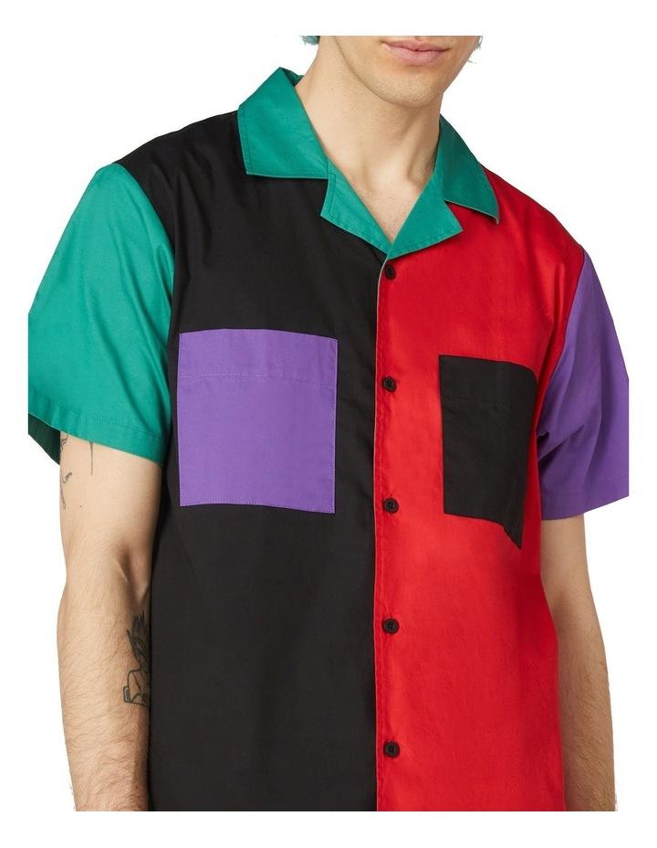 Colour Block Short Sleeve Shirt Black image 4