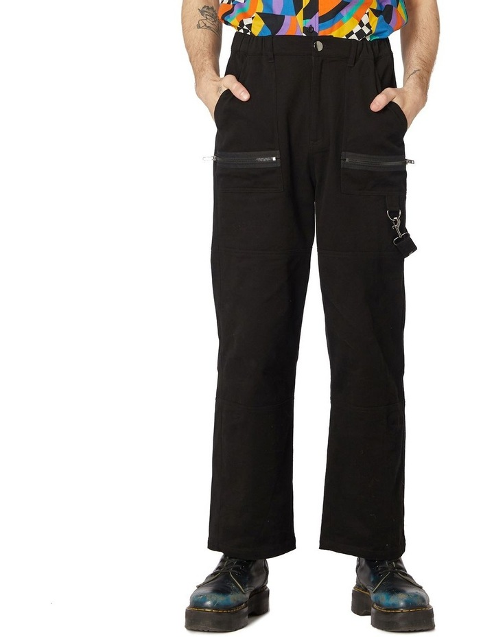 Ace Unisex Drill Pants Black image 1