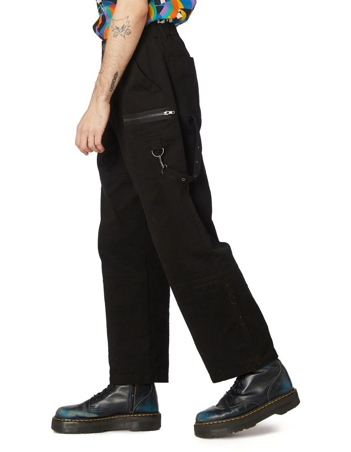 Ace Unisex Drill Pants Black image 2
