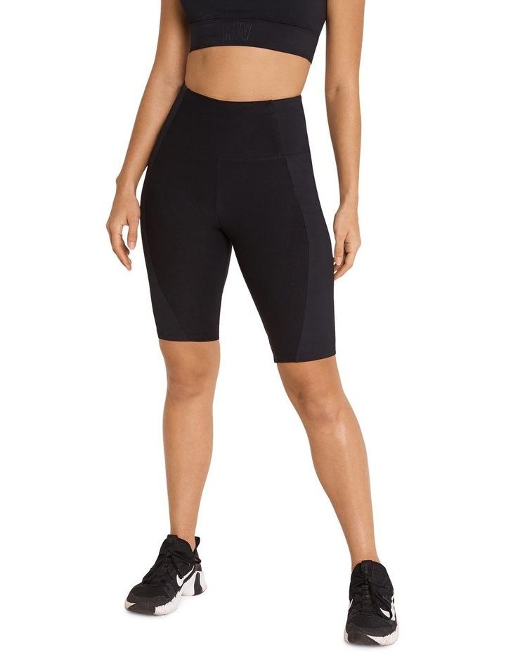 Miami Nights Ribbed Bike Shorts Black image 1