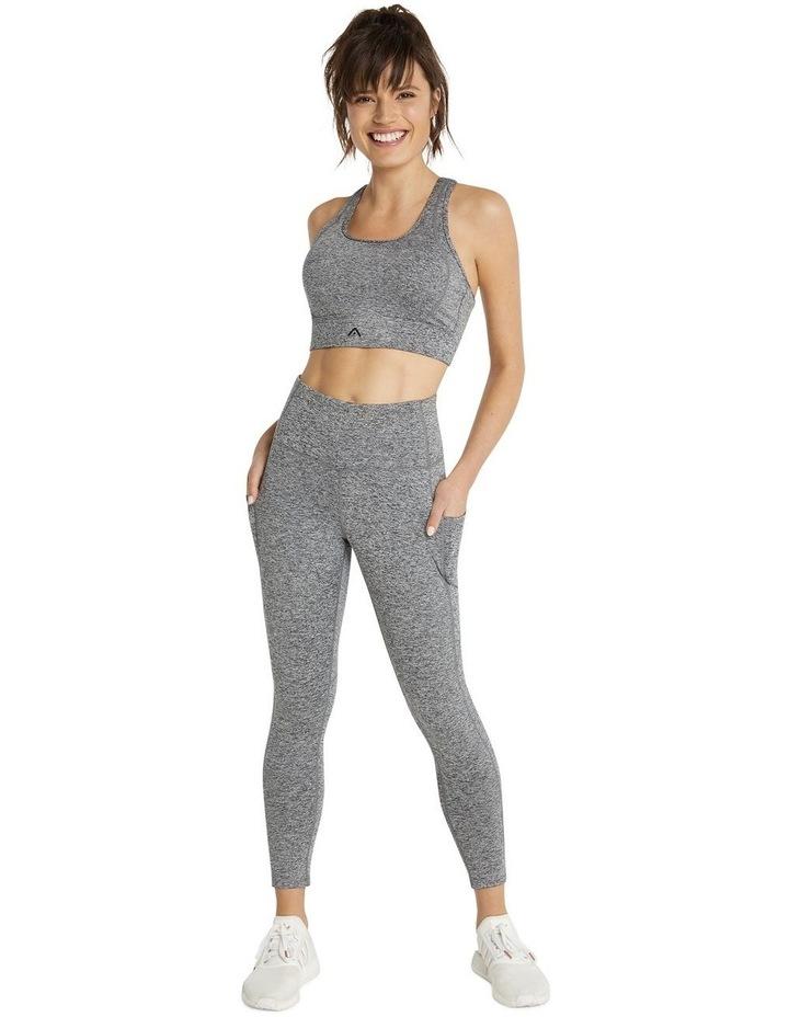 Rockwear Scrunch Bum Ankle Grazer Tights Grey image 4