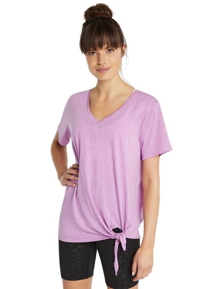 Rockwear Tie Side Longline Tee Pink image 1