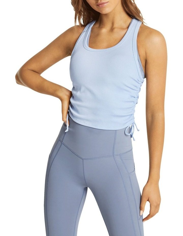 Dreamer Ruched Fitted Tank Blue image 1