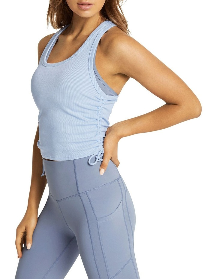 Dreamer Ruched Fitted Tank Blue image 2