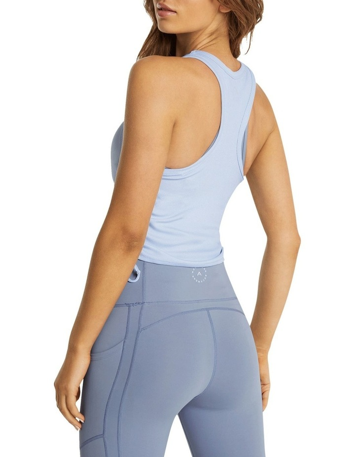 Dreamer Ruched Fitted Tank Blue image 3