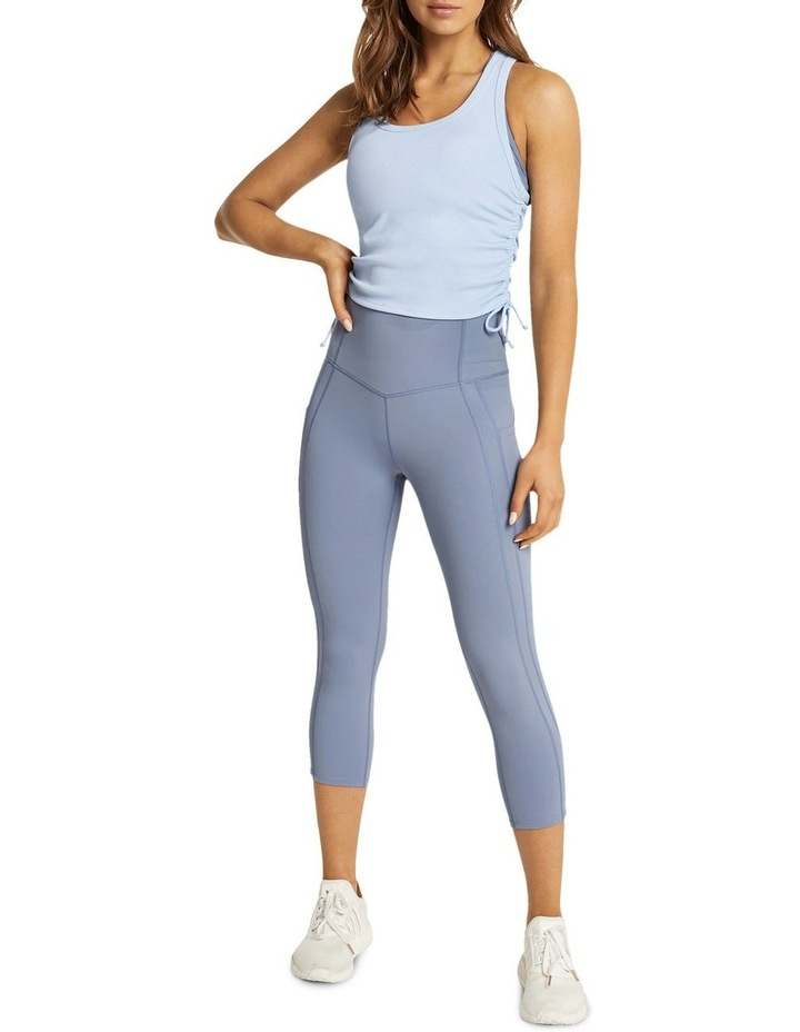 Dreamer Ruched Fitted Tank Blue image 5