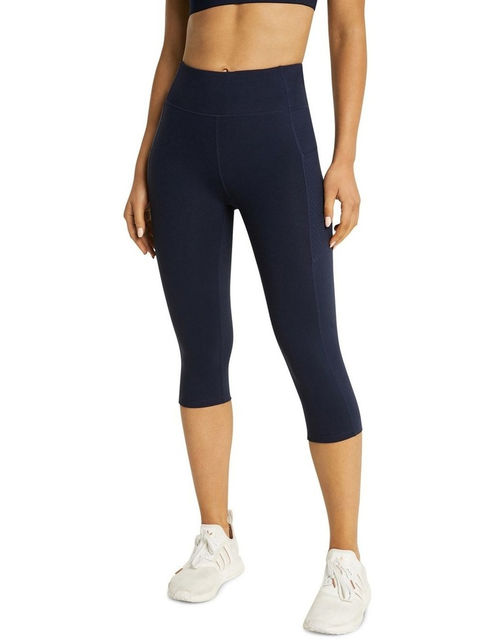 Perforated Pocket 3/4 Tights Navy image 1