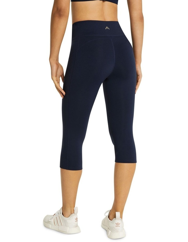 Perforated Pocket 3/4 Tights Navy image 3
