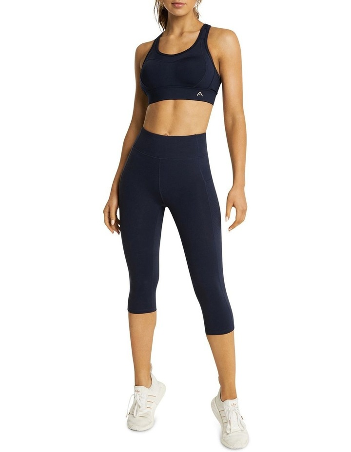 Perforated Pocket 3/4 Tights Navy image 5
