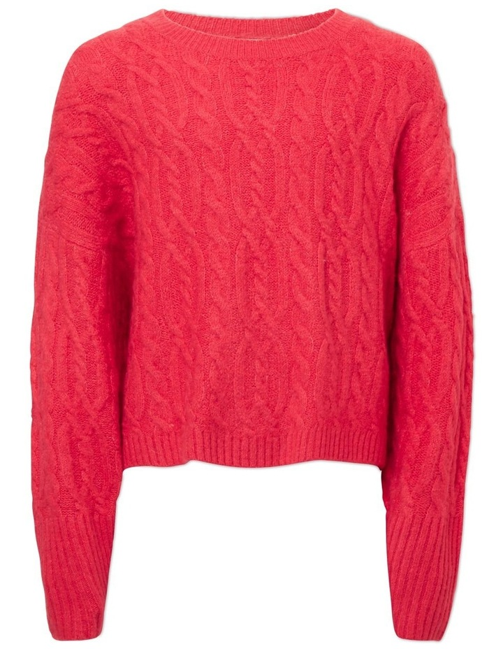 Cable Crop Sweater image 1