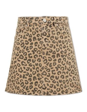 37ff5f25e2 Seed Heritage Ocelot Denim Skirt