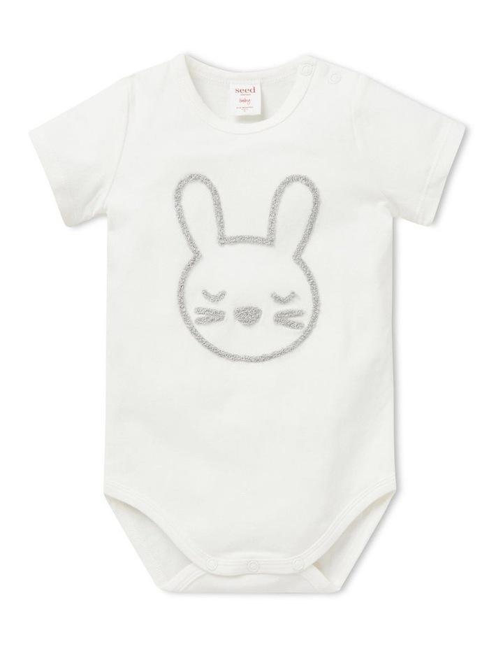 Chenille Bunny Bodysuit image 1