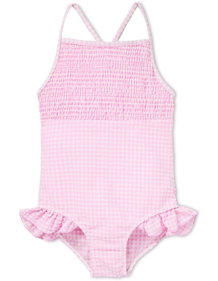 Shirred Gingham Bather image 1