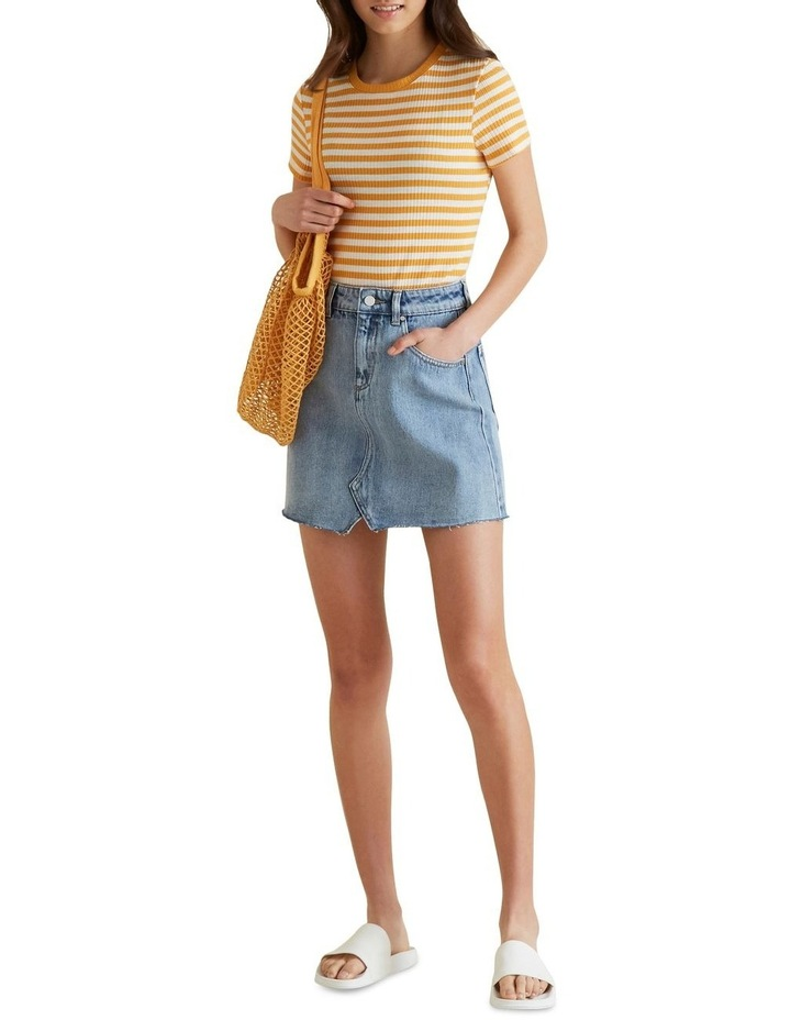 Reworked Denim Skirt image 1