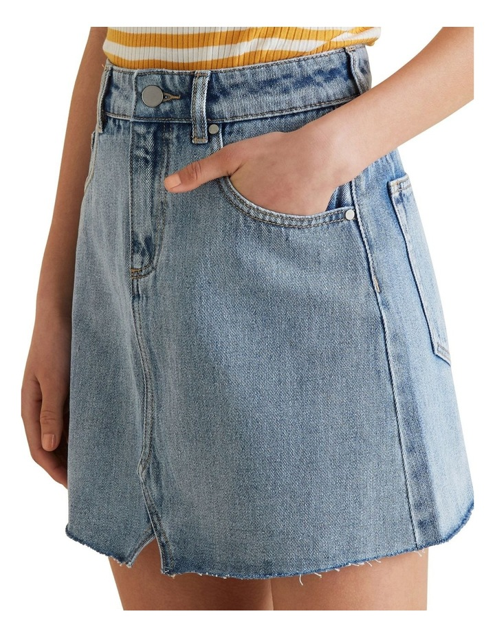 Reworked Denim Skirt image 3