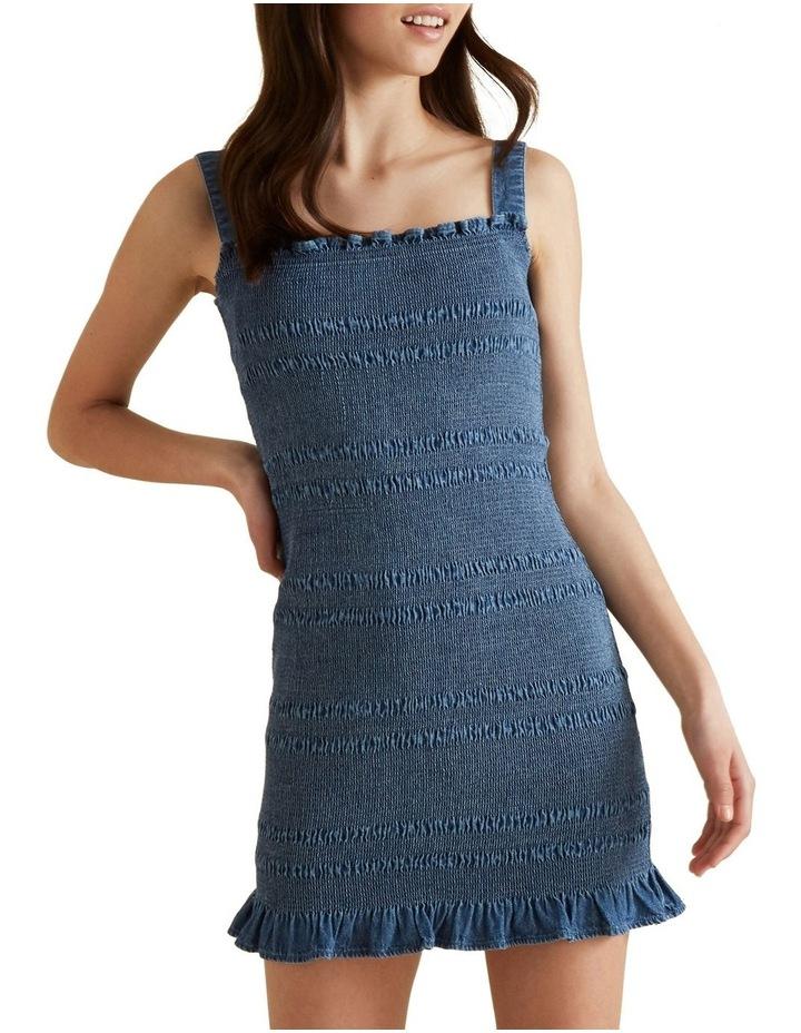 Shirred Denim Dress image 1