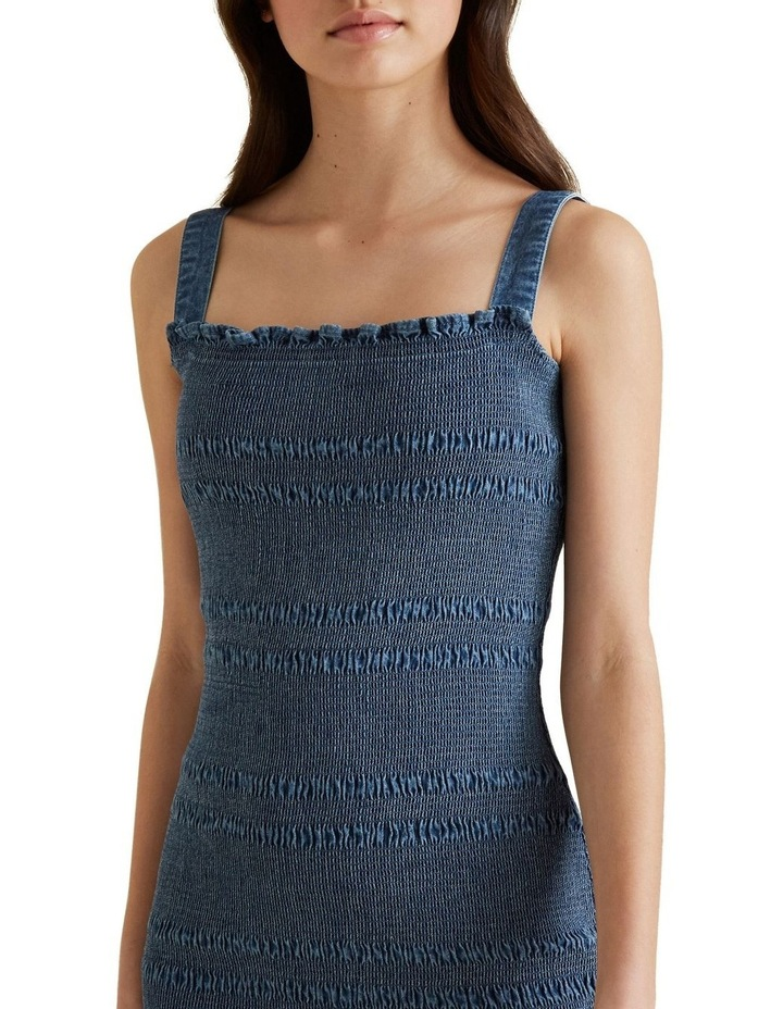 Shirred Denim Dress image 4