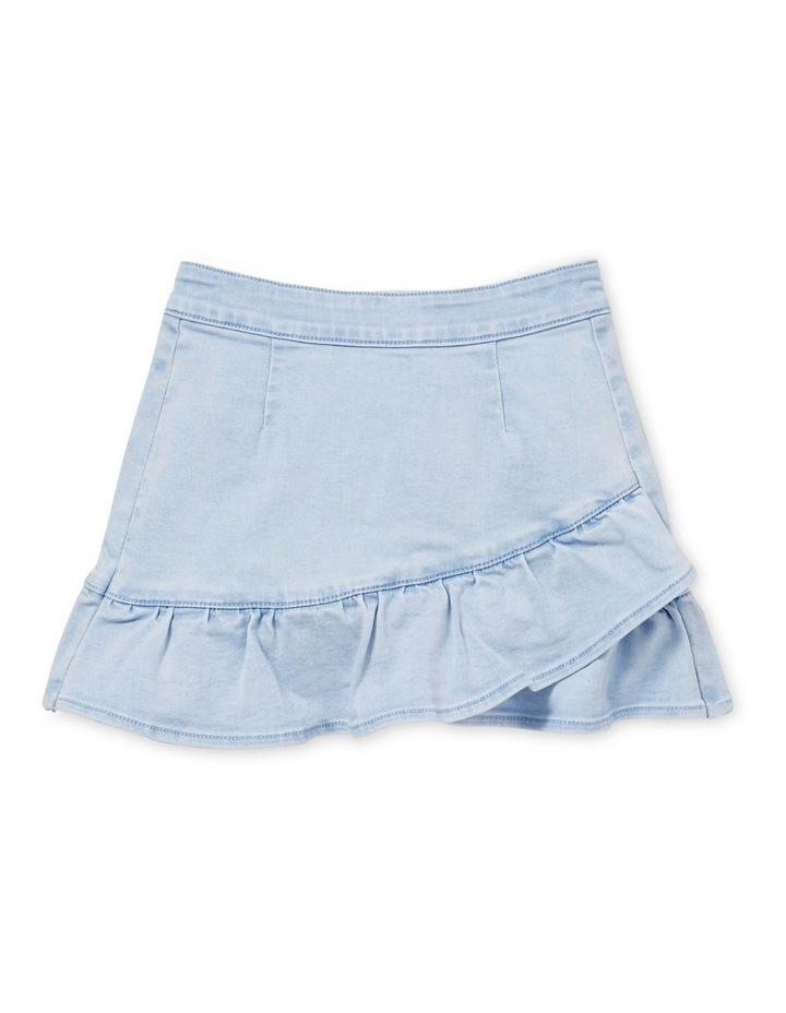 Denim Asymmetric Skirt image 1