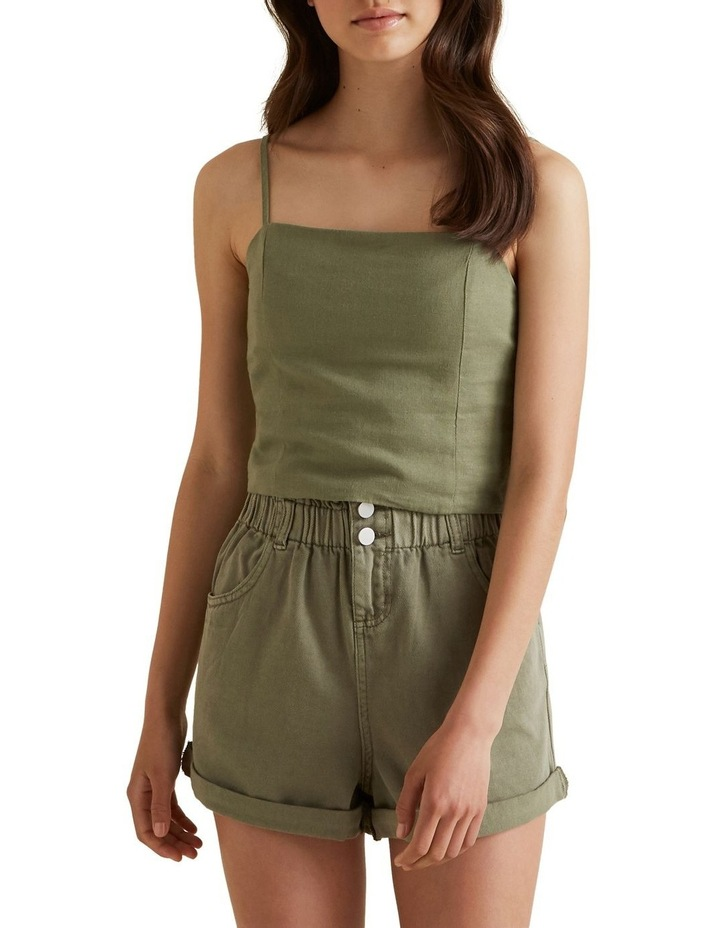 Linen Cropped Top image 1