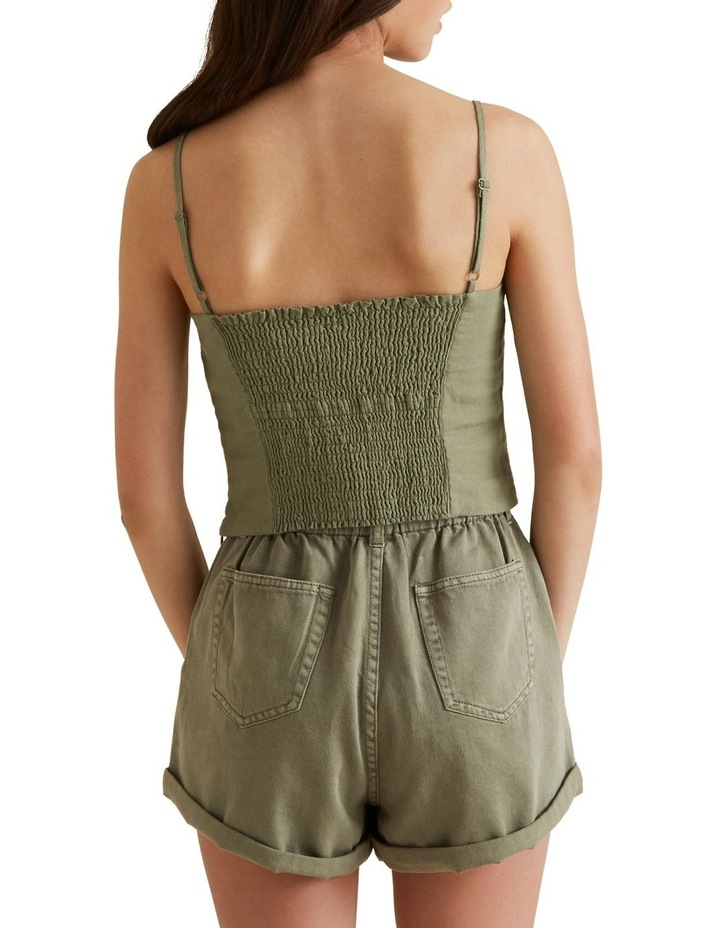 Linen Cropped Top image 3