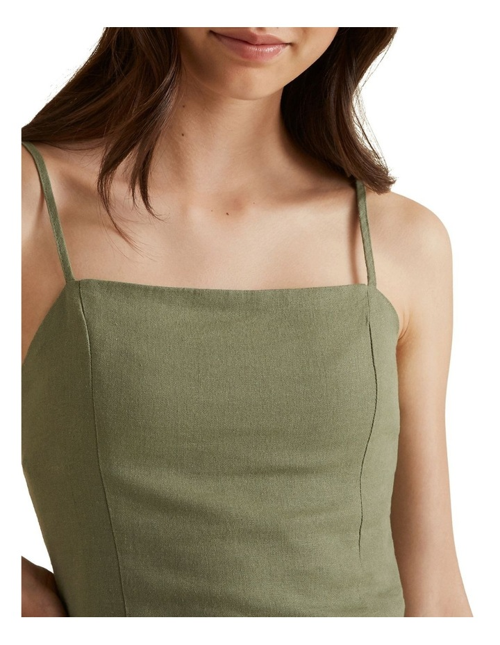 Linen Cropped Top image 4