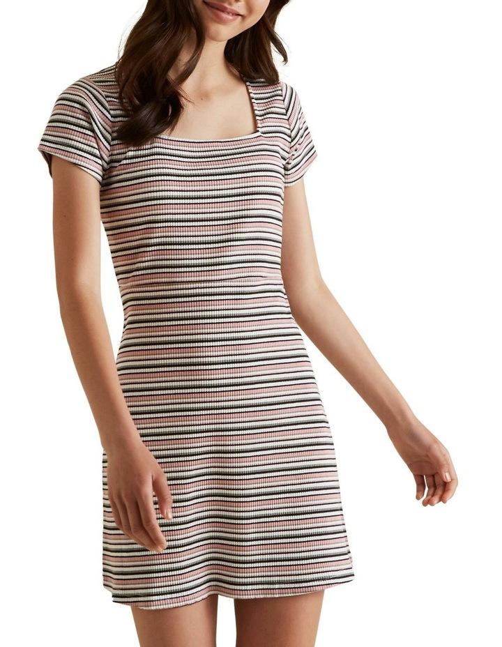 Square Neck Rib Dress image 1