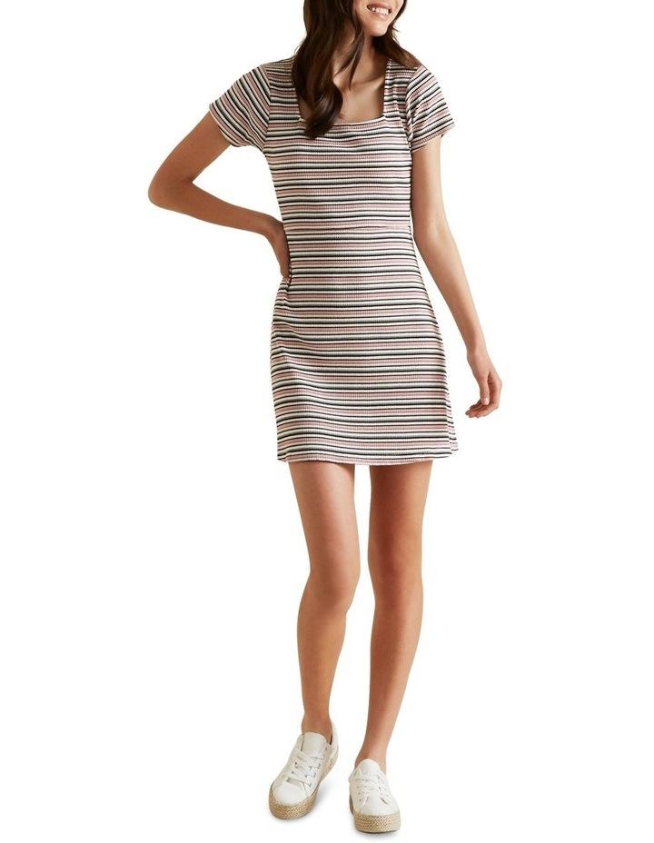Square Neck Rib Dress image 2