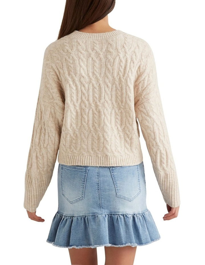 Cable Crop Sweater image 3