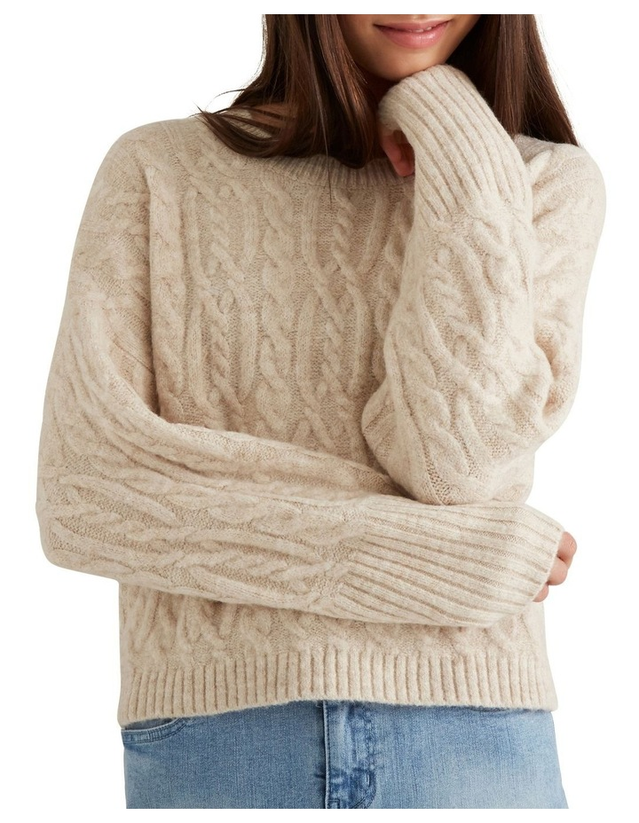 Cable Crop Sweater image 4