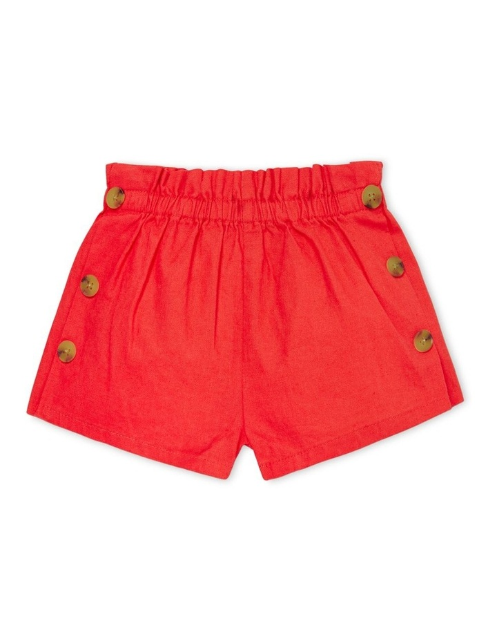 Linen Button Shorts image 1