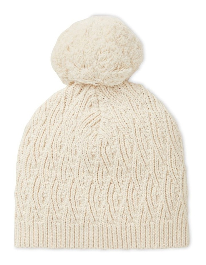 Pointelle Knitted Beanie image 1