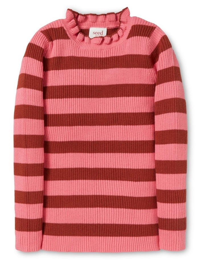 Stripe Rib Sweater image 1