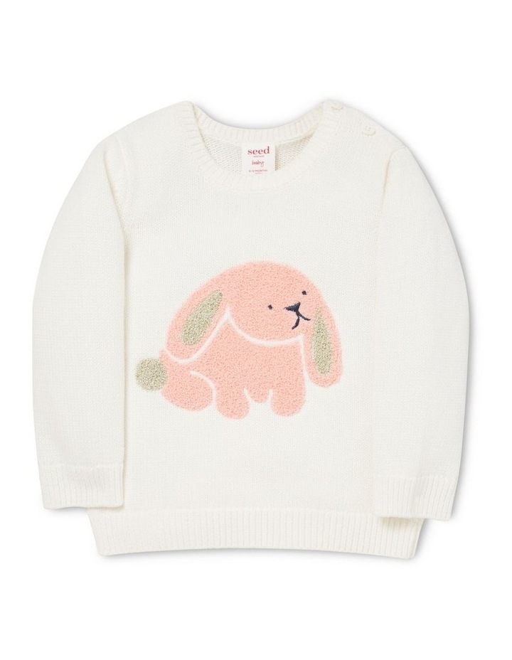Chenille Bunny Sweater image 1