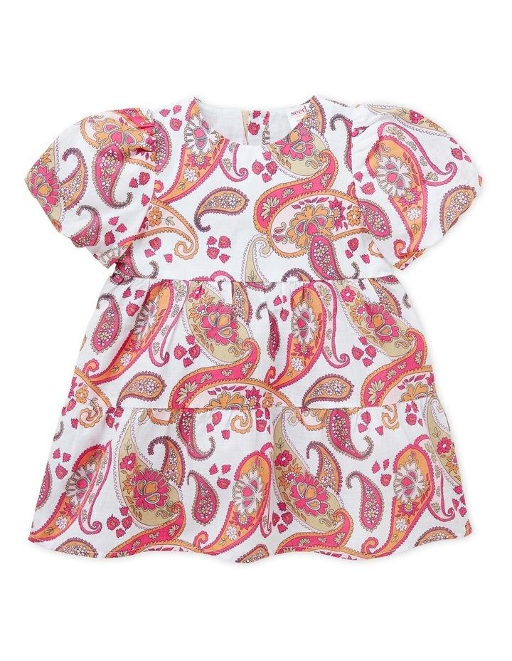 Paisley Puff Sleeve Dress image 1
