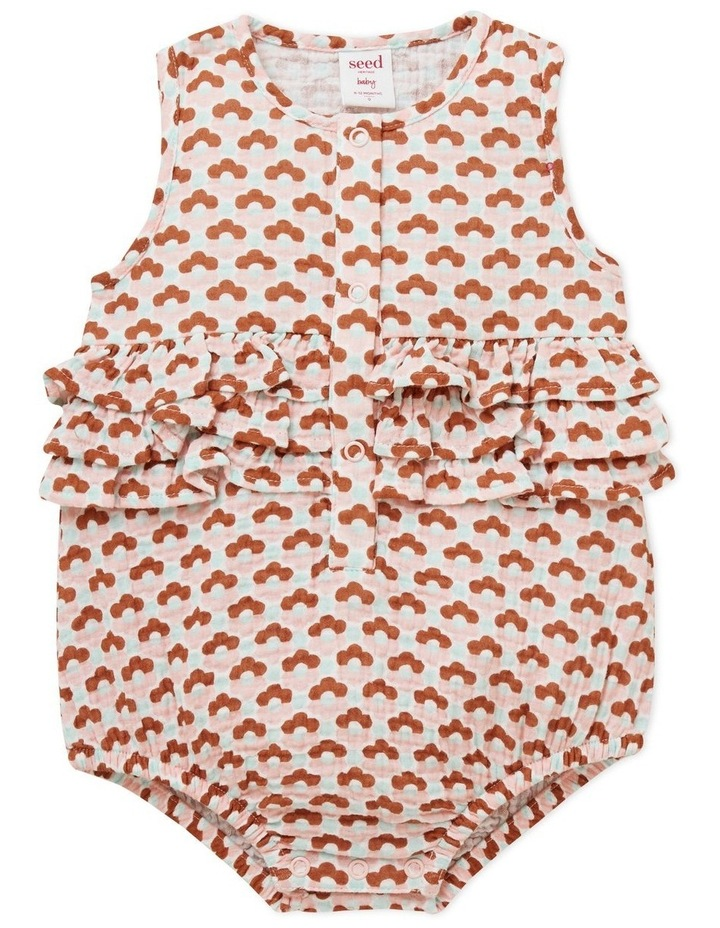 Cheesecloth Floral Onesie image 1