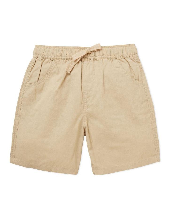 Linen Blend Shorts image 1