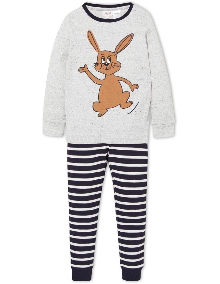 Bunny Stripe Long Sleeve Pyjamas image 1