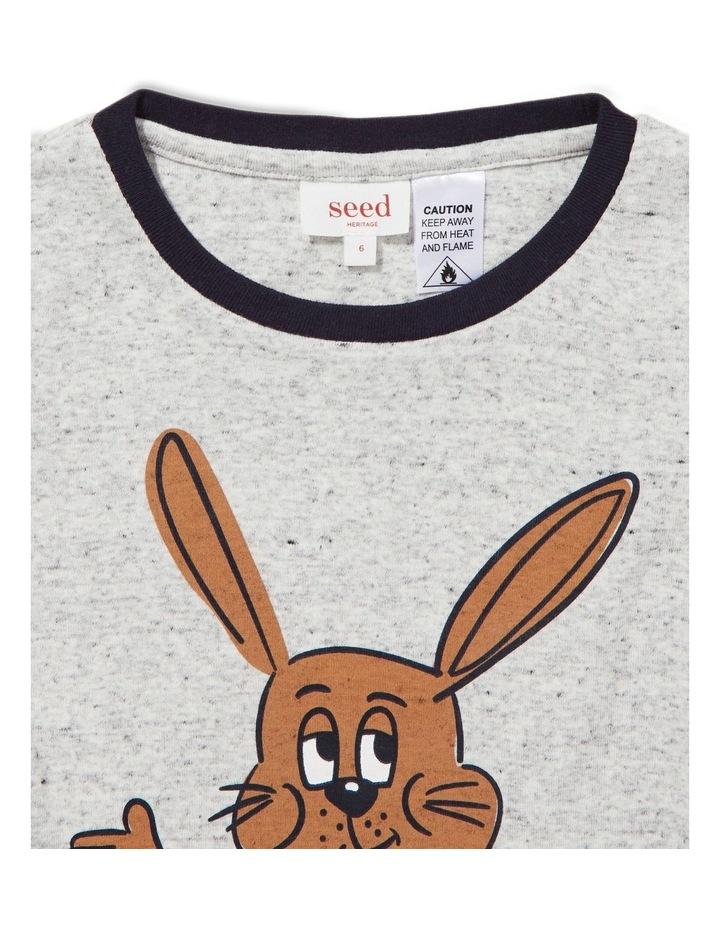 Bunny Stripe Long Sleeve Pyjamas image 2