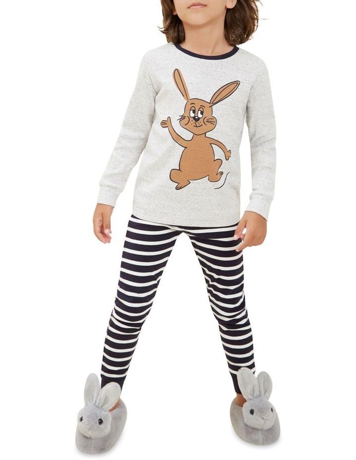 Bunny Stripe Long Sleeve Pyjamas image 3