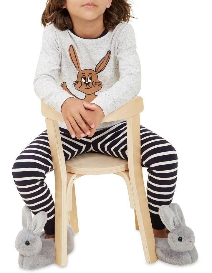 Bunny Stripe Long Sleeve Pyjamas image 4