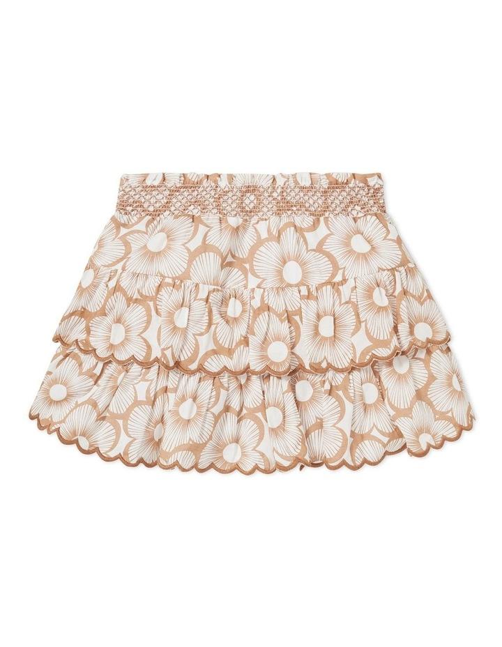 Shirred Floral Skirt image 1